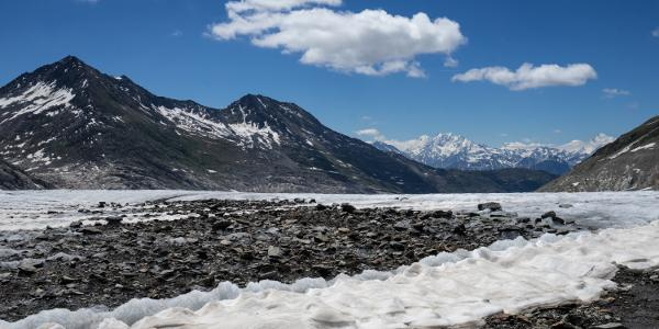 Aletschgletscher Richtung Konkordiahütte