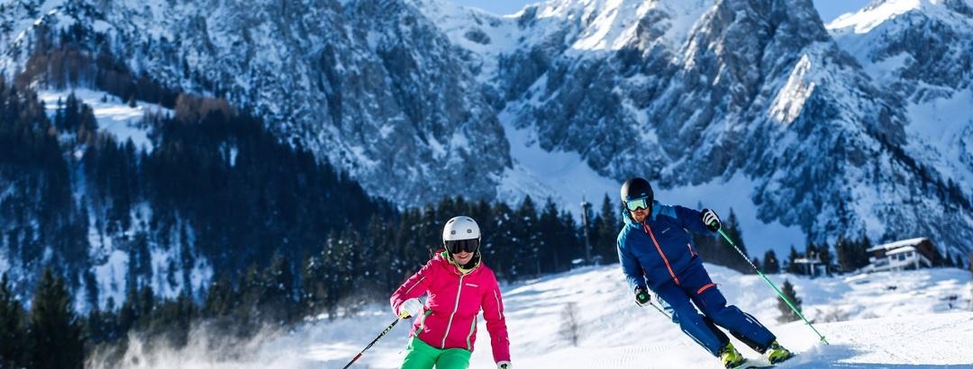Skifahren im Skigebiet Zahmer Kaiser