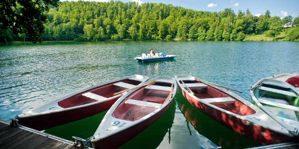 Bootfahren am Gemündener Maar_Lieserpfad: Etappe 2: Daun-Manderscheid