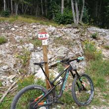 Nach dem langen Aufstieg, vor der Abfahrt nach Andalo.
