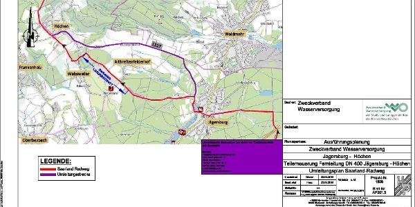 Umleitungsstrecke bei Höchen/ Jägersburg