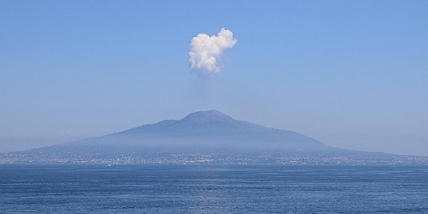 The Vesuvius at the Gulf of Naples