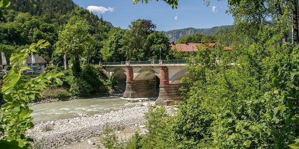 Die Luitpoldbrücke in Bad Reichenhall