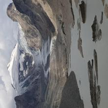 The lake in front of the glacier