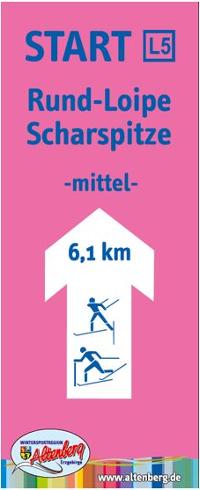 Loipenschild Scharspitze