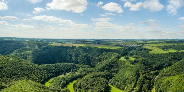 Ausblick vom Eifelblick Achterhöhe_Vulkaneifel-Pfad: Maare-und-Thermen-Pfad: Etappe 2: Lutzerath - Bad Bertrich