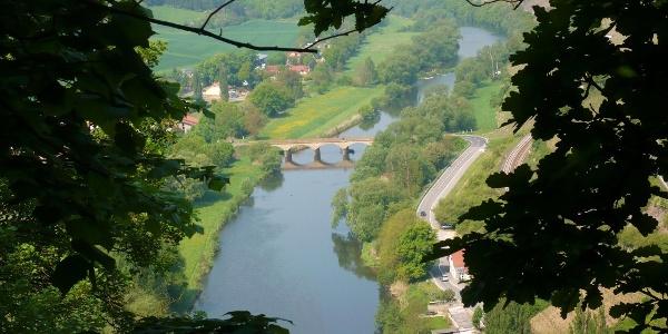 Blick zur Luitpoldbrücke Oberhausen