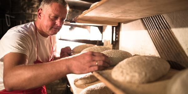 Leckeres Brot im Backes