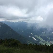 Blick von der Notkarspitze ins Tal