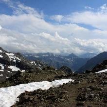 Blick vom Plattenjoch in die Schweiz - II