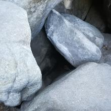 Ausstieg aus dem Höhlendurchgang