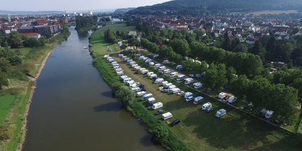 Luftbild Campingplatz Hameln an der Weser