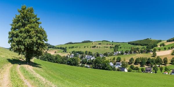 Blick von der Fotoroute auf Oberhenneborn