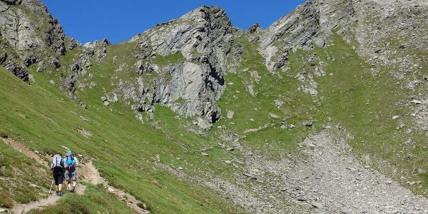 Anstieg zum Schmalzgrubenjoch 2700m