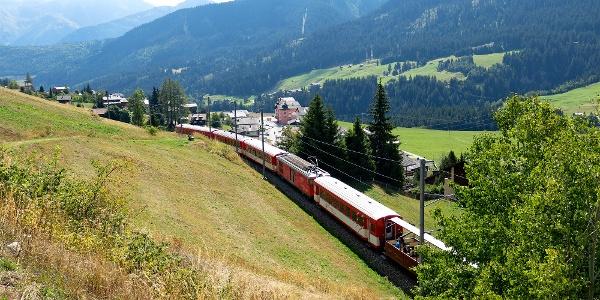 Matterhorn Gotthard Bahn bei Sedrun.