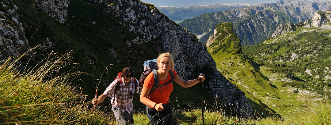 Hiking in the Rofan Mountains