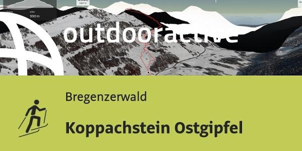 Skitour im Bregenzerwald: Koppachstein Ostgipfel