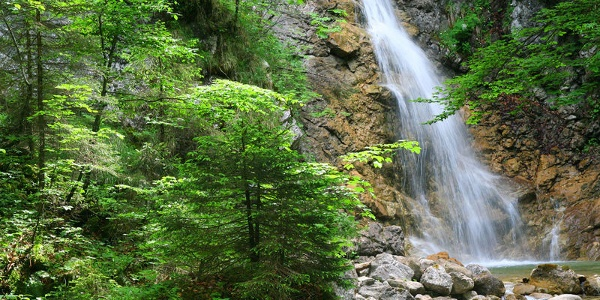 Wasserfall in der Schleifmühlklamm