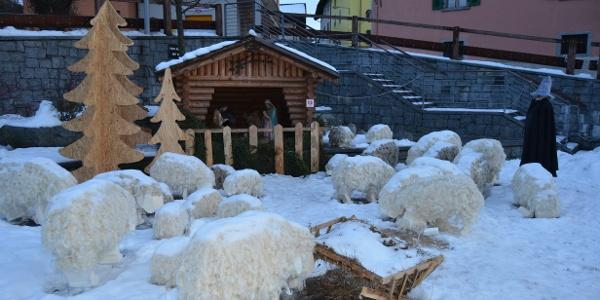 Piazza Nový Knín durante il periodo natalizio