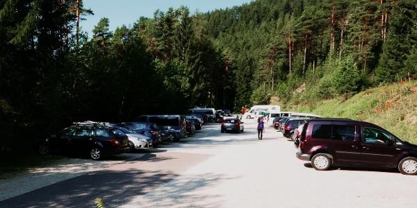 Parkplatz beim Tourstart