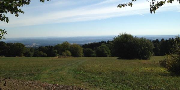 Schwarze Berge  - nach dem steilen Aufstieg von Waldfenster