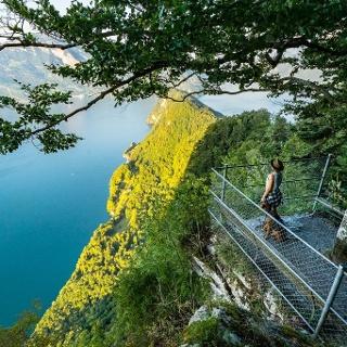 Aussichtsplattform auf dem Felsenweg Bürgenstock