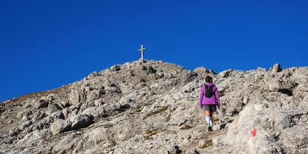 Anstieg zum Hochstadel Gipfel