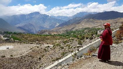 Blick von Muktinath über den Mustang