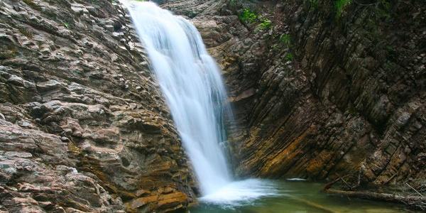 Wasserfall in der Schleifmühlenklamm