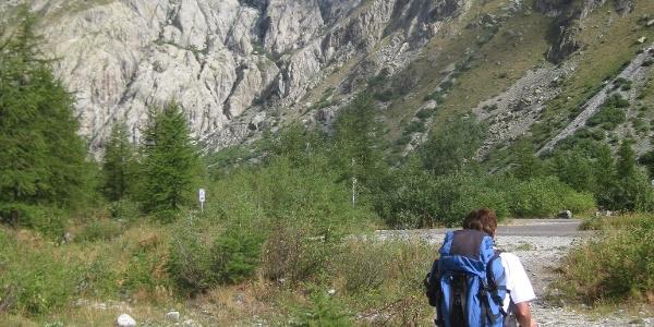 Zunge des Glacier Blanc vom Parkplatz
