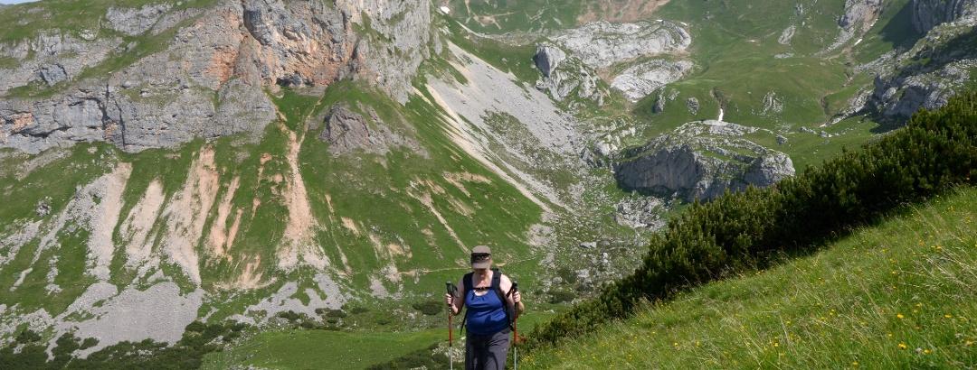 Anstieg von der Scherbensteinalm unterhalb des Sonnwendjochs