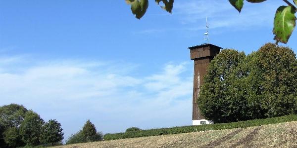 Der Aussichtsturm auf dem Juxkopf (533 m)