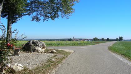 Rastplatz Sandburren, Blick nach Justingen