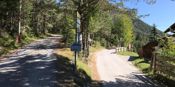 Startpunkt: Kreuzung oberalb Gasthof Wiesehof/Isarodge