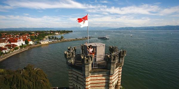 Blick vom Schloss Montfort in Langenargen: Turmbesteigung
