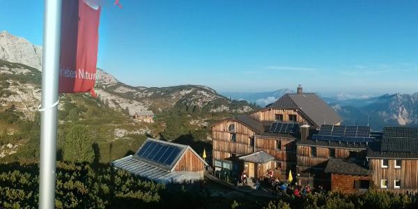 Panorama vom Aussichtspunkt des Wiesberghaus