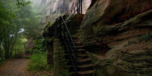 Aufstieg zur Falkenburg