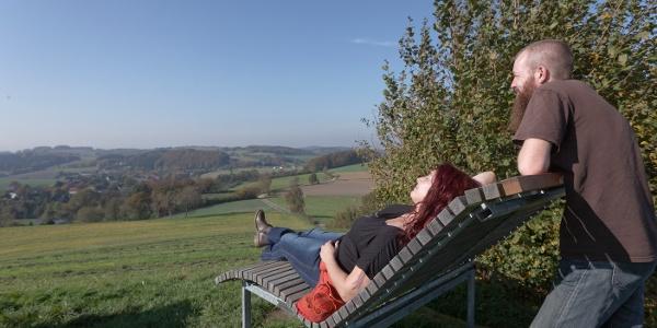Relaxliege an der Windmühle Bavenhausen