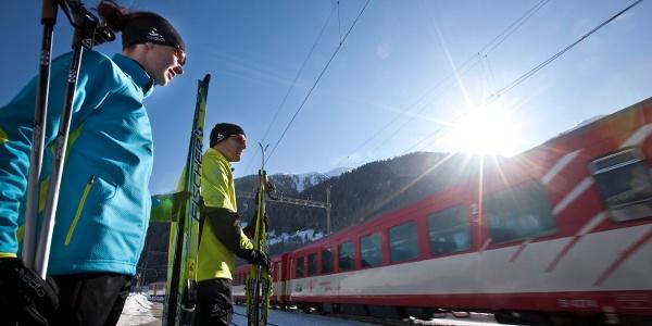 L'utilisation du train MGBahn est comprise dans le tarif des pistes de ski de fond.