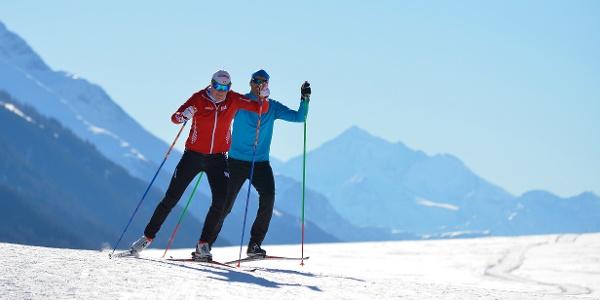 Ski de fond de plaisir entre Obergesteln et Münster