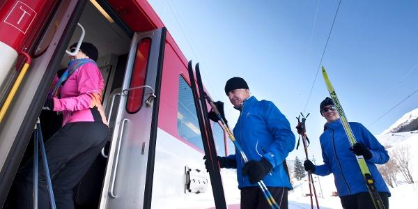 L'utilisation du train MGBahn est comprise dans le prix des pistes de ski de fond.
