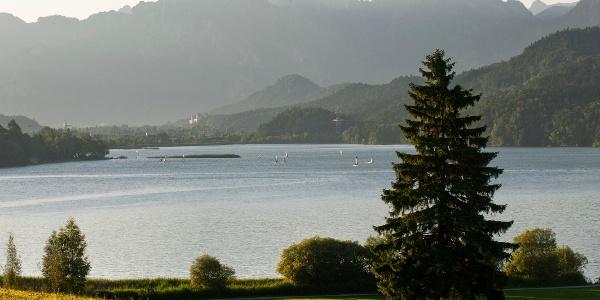 Blick über den Weißensee unterhalb des Zirmgrat