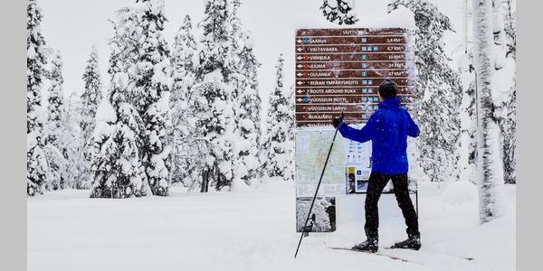 Skier in Ruka Ski Resort, Kuusamo