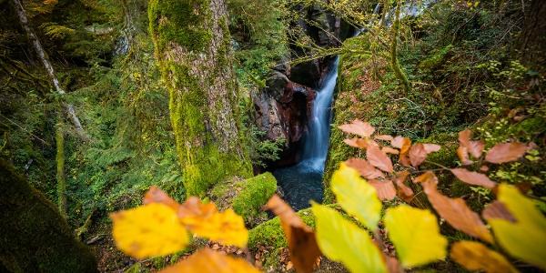 Wasserfall entlang des Kastanienwegs