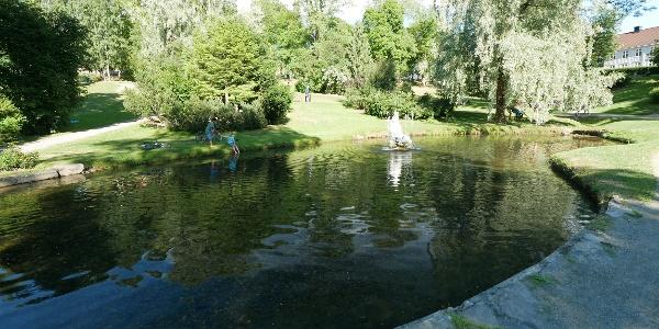 Im Søndre-Park in Lillehammer