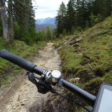 Feine Trail-Passage nach dem Kögljoch