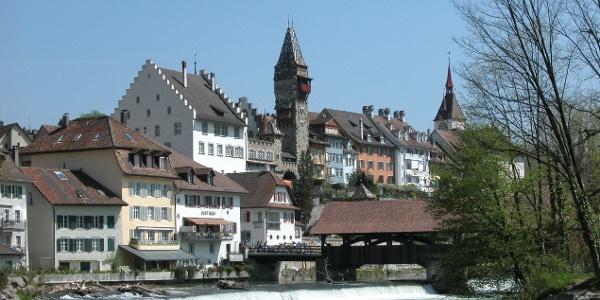 Blick auf die Altstadt Bremgarten