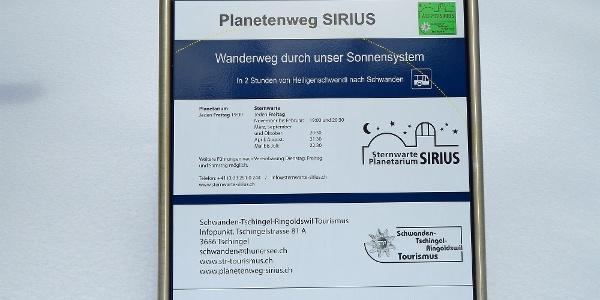 Planetenweg Sirius.