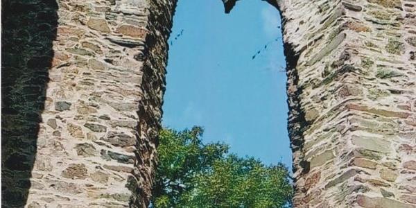 Detailansicht der östlichen Kirchruine
