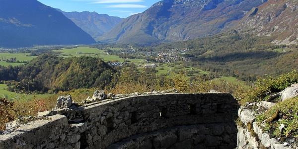 Ideale Lage für den Blick auf das Bovec-Becken